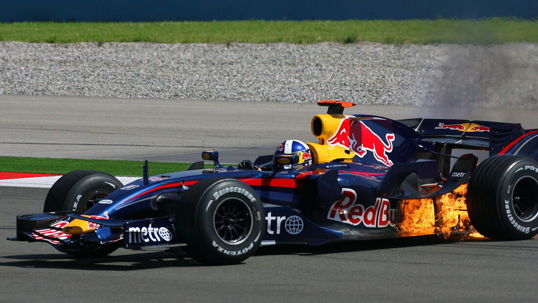 Feuer am Red Bull - Coulthard
