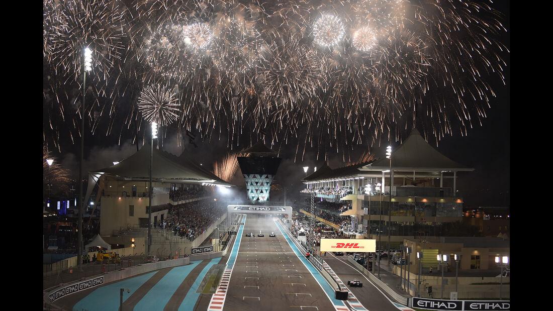 Feuerwerk - GP Abu Dhabi 2017