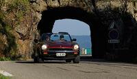 Fiat 124 Spider, Frontansicht, Tunnel