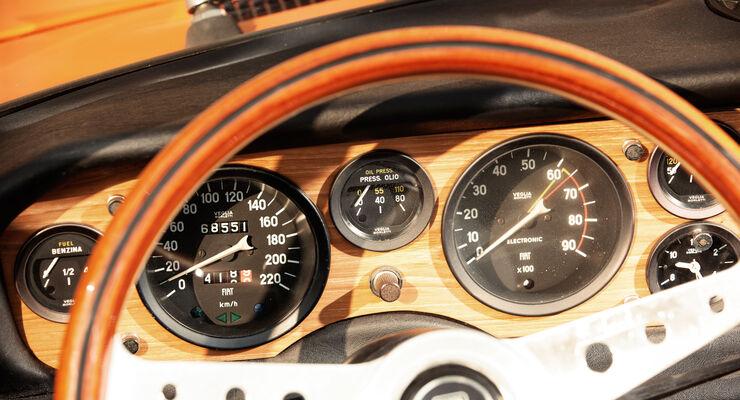 Fiat 124 Sport Spider, Lenkrad, Rundinstrumente