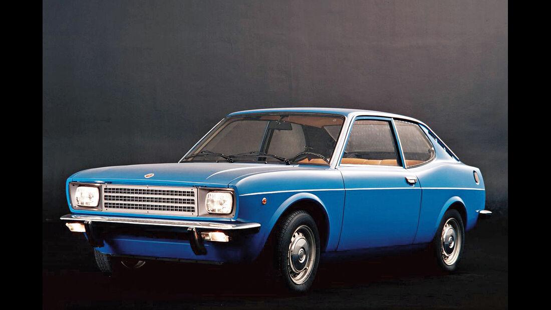 Fiat 128 Coupé, Frontansicht