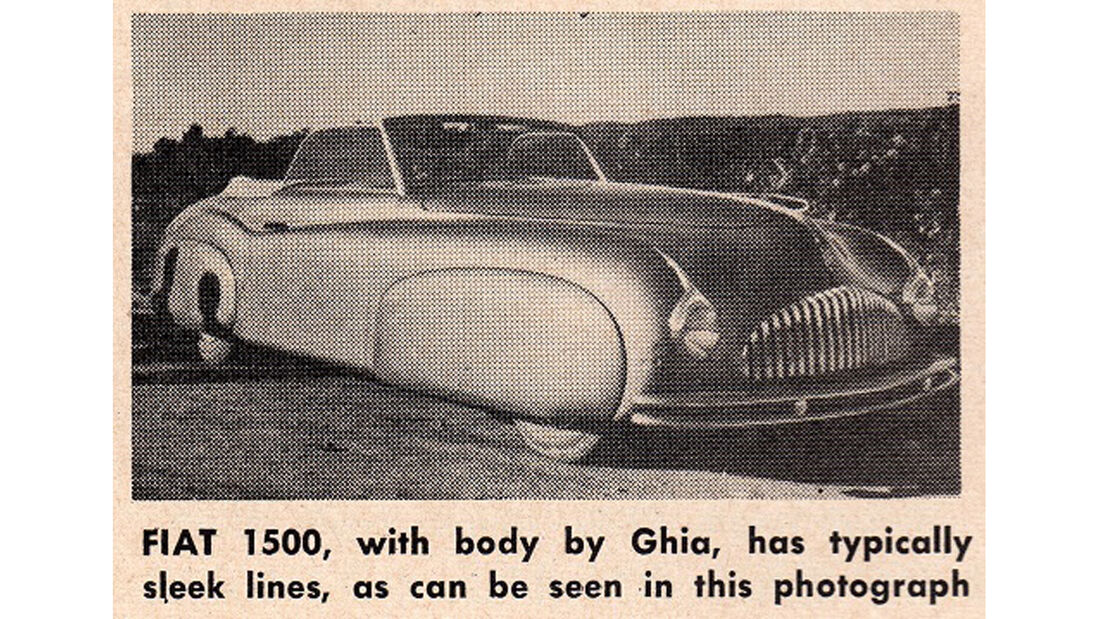Fiat 1500 Ghia, 1947