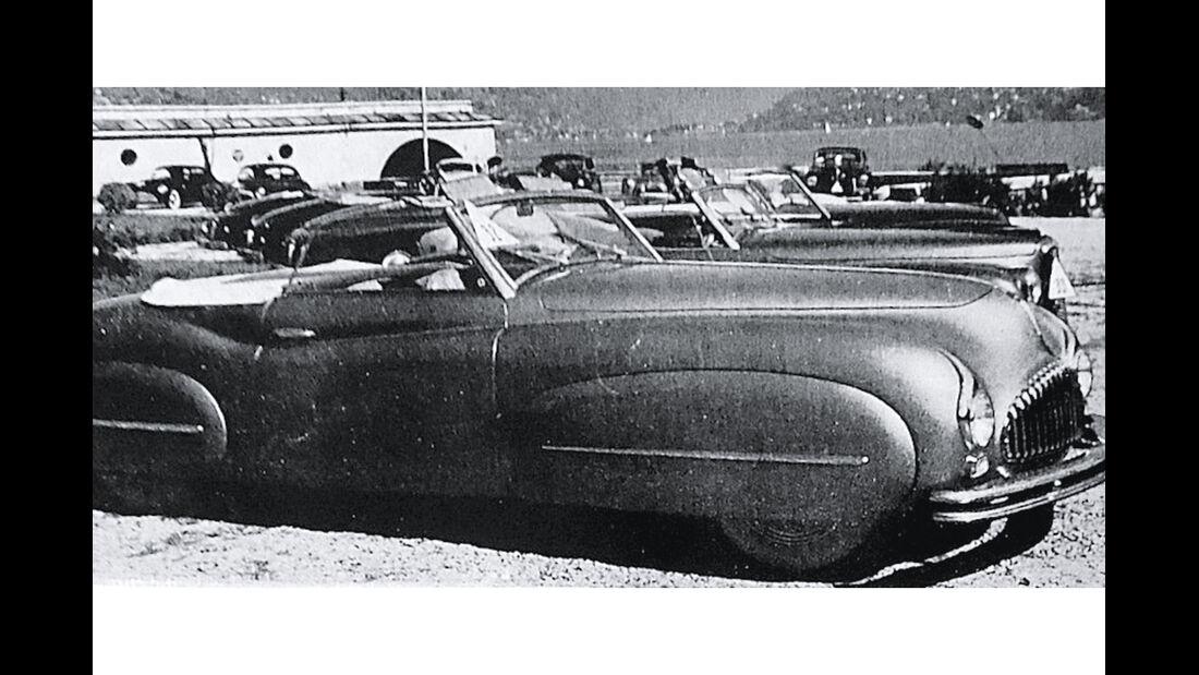 Fiat 1500 Ghia, Seitenansicht