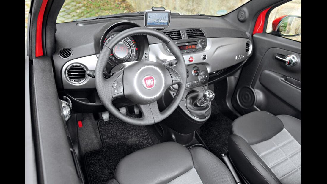 Fiat 500 0.9 Twinair Lounge, Cockpit
