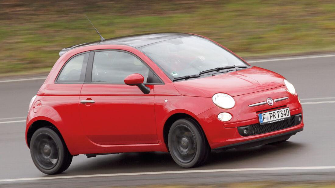 Fiat 500 0.9 Twinair, Seitenansicht