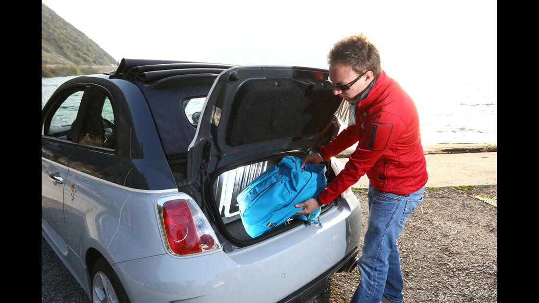 Fiat 500 Abarth 595C Turismo, Kofferraum, heckklappe
