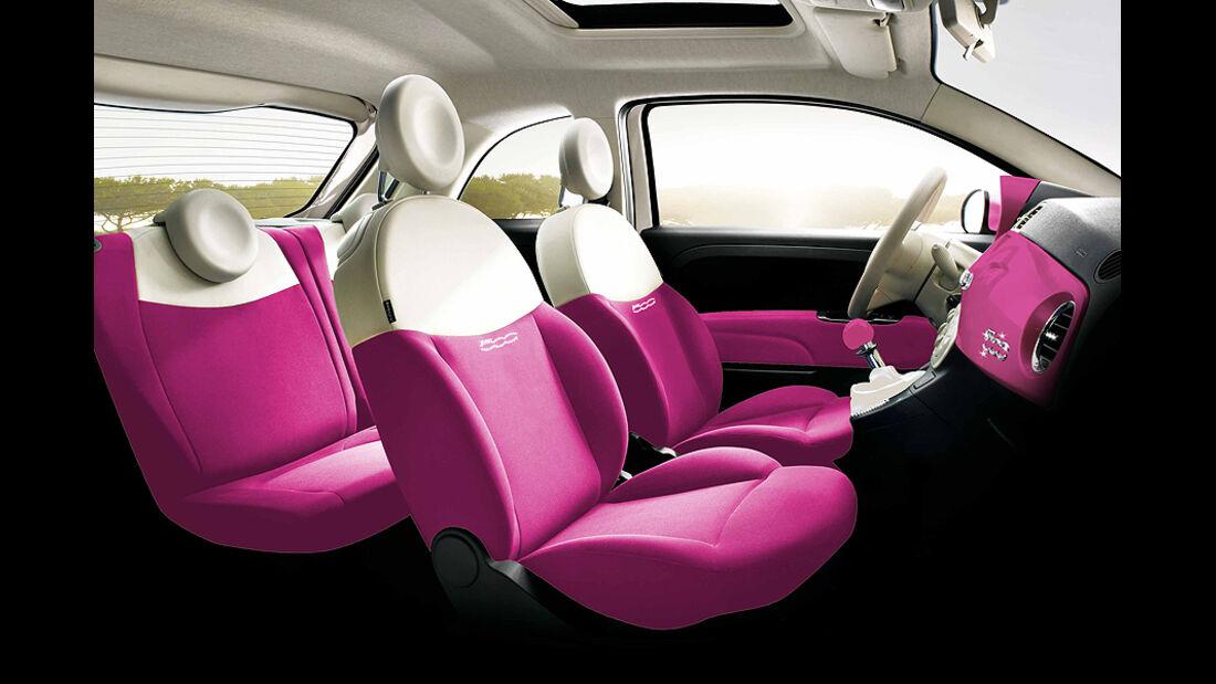 Fiat 500 Barbie Innenraum