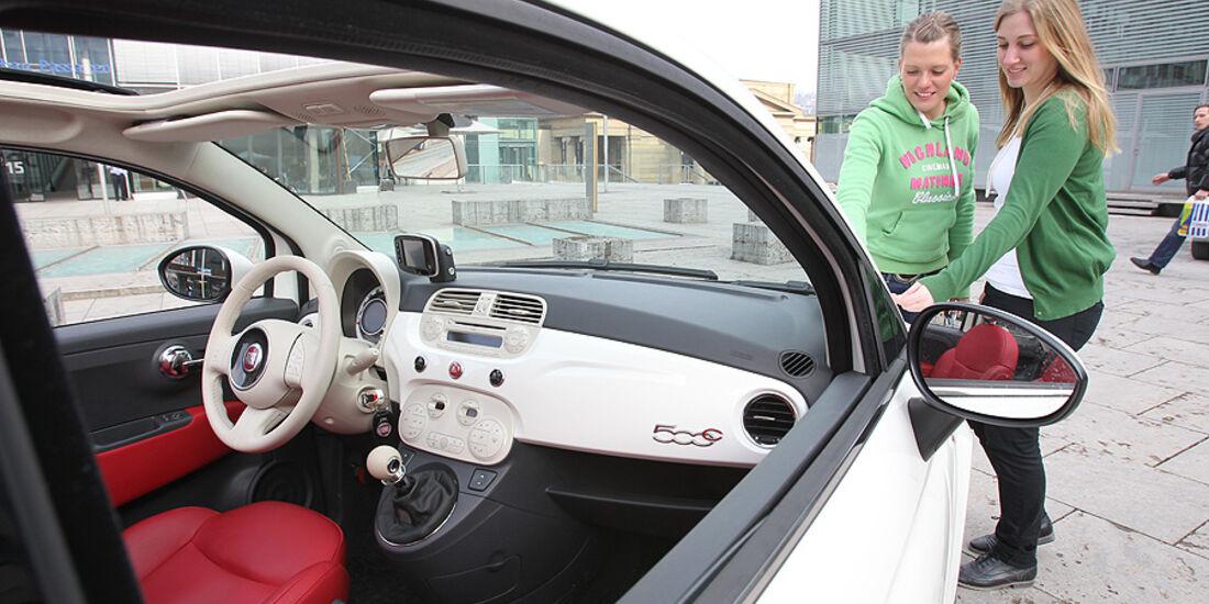 Fiat 500 C, Cabrio, Cockpit, Inneraum