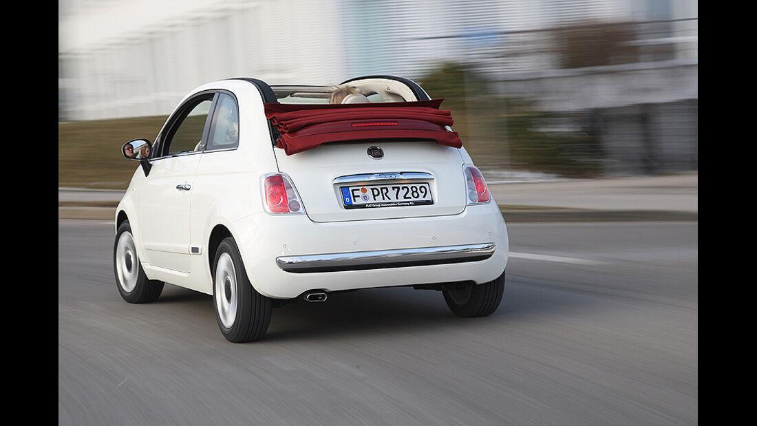Fiat 500 C, Cabrio, Heck
