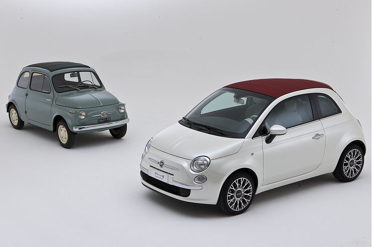 fiat 500 cabrio trifft seinen urahn von 1957 auto motor. Black Bedroom Furniture Sets. Home Design Ideas