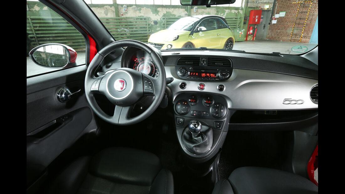 Fiat 500, Cockpit, Lenkrad