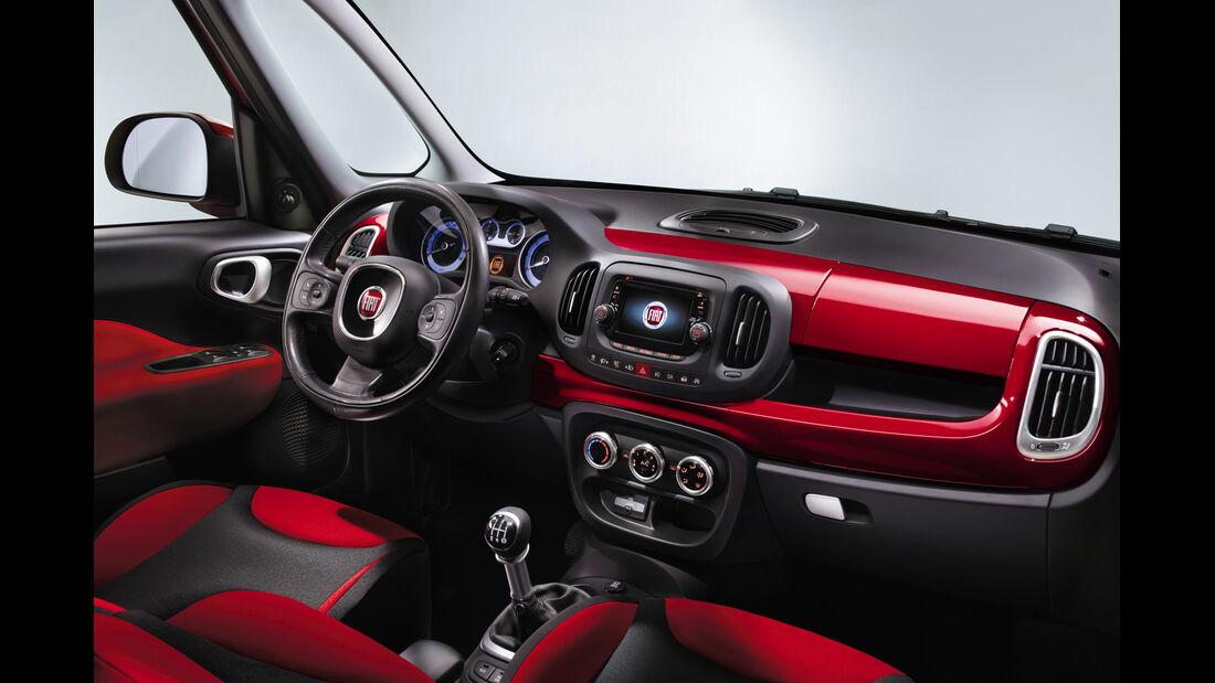 Fiat 500 L, Cockpit, Interieur