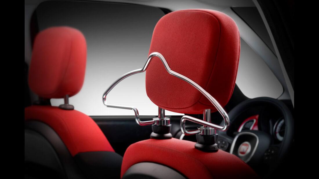 Fiat 500 L, Kopfstütze, Kleiderbügel