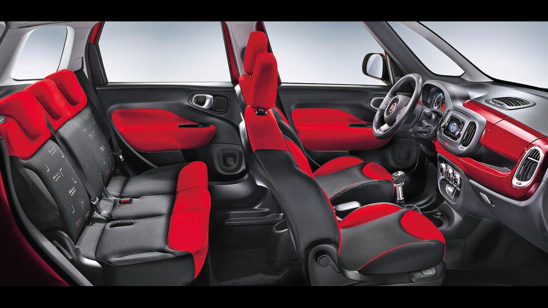 Fiat 500 L, Sitze, Innenraum