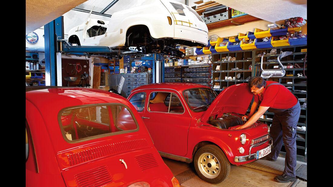 Fiat 500, Motorhaube, Klaus Steiner