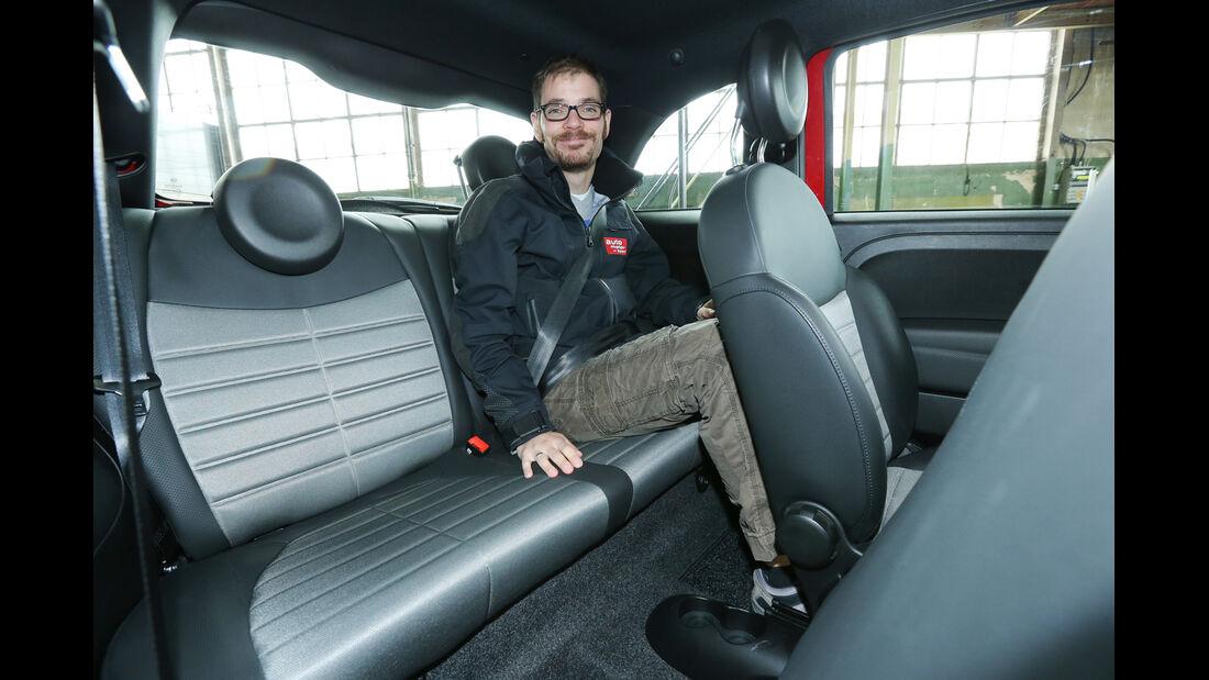 Fiat 500, Rücksitz, Beinfreiheit