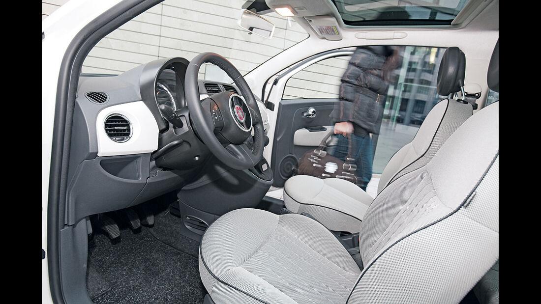 Fiat 500, Sitze