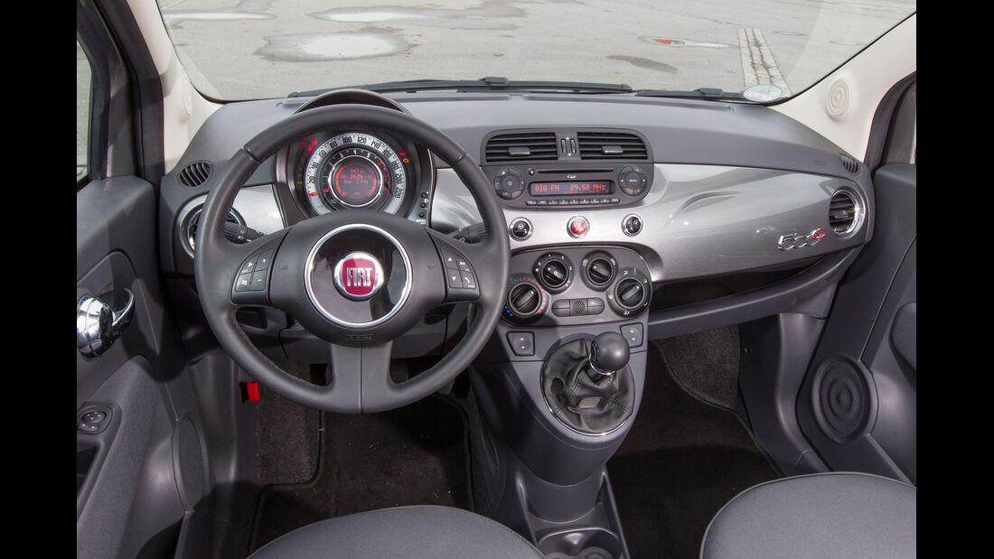 Fiat 500C 1.2 8V Pop Star, Cockpit