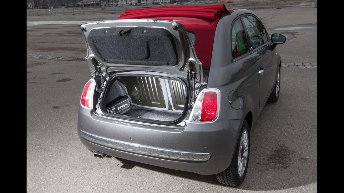 Fiat 500C 1.2 8V Pop Star, Heckklappe, Kofferraum