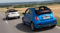 Fiat 500C, Mini One Cabrio, Heckansicht