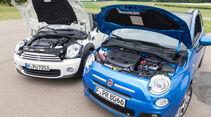 Fiat 500C, Mini One Cabrio, Motor