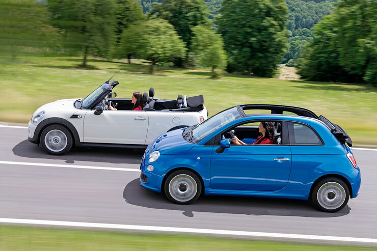 fiat 500c und mini one cabrio nicht perfekt aber. Black Bedroom Furniture Sets. Home Design Ideas