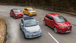 Fiat 500C, Renault Twingo, Renault Zoe, Smart Forfour