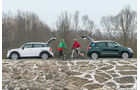 Fiat 500L 0.9 Twinair Lounge, Mini One Countryman, Seitenansicht
