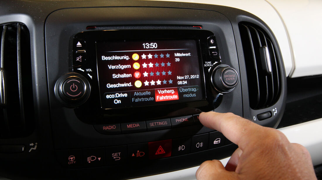 Fiat 500L 1.4 16V Pop Star, Monitor, Bordcomputer