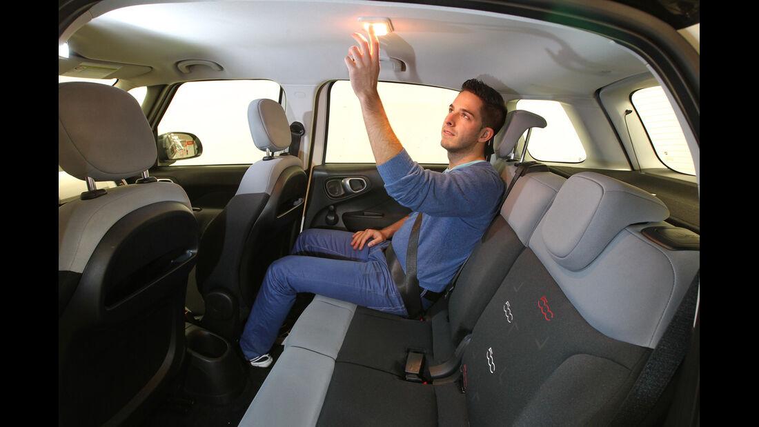 Fiat 500L 1.4 16V Pop Star, Rücksitz, Deckenlampe
