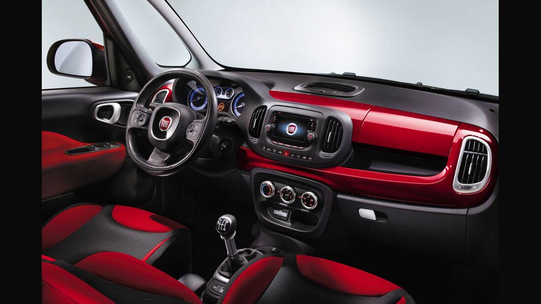Fiat 500L, Cockpit, Innenraum