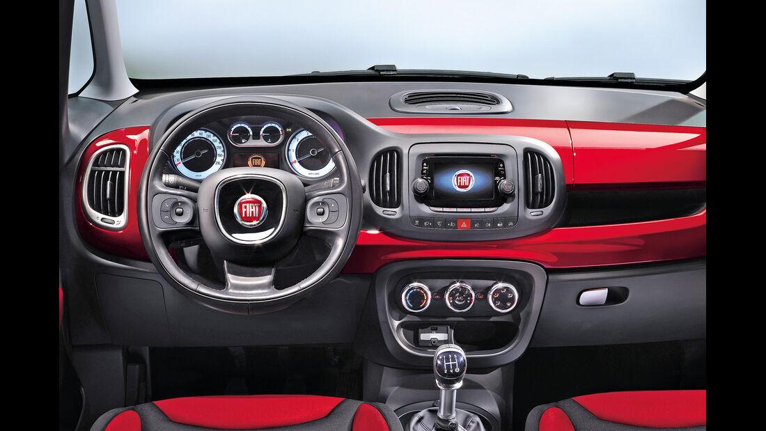 Fiat 500L, Cockpit, Lenkrad