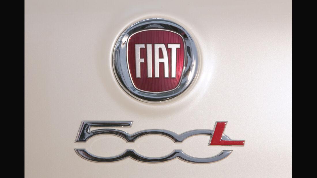 Fiat 500L, Emblem, Typenbezeichnung