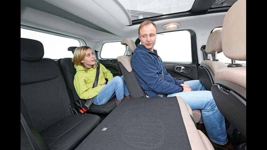 Fiat 500L Living 1.6 16V Multijet, Dritte Sitzreihe, Innenraum