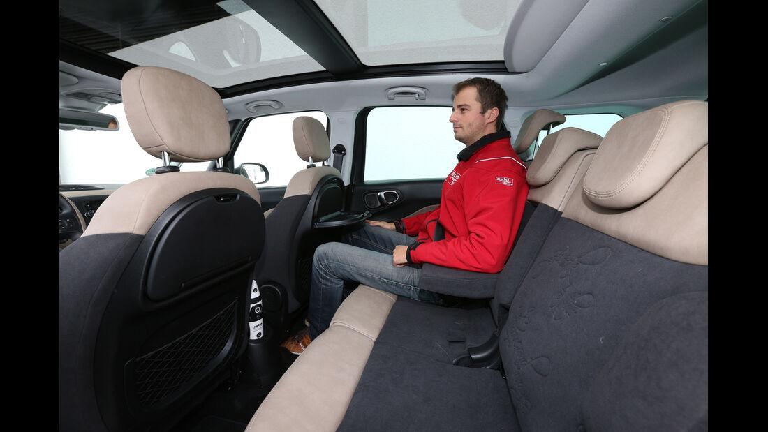 Fiat 500L Living 1.6 16V Multijet, Fondsitz, Beinfreiheit