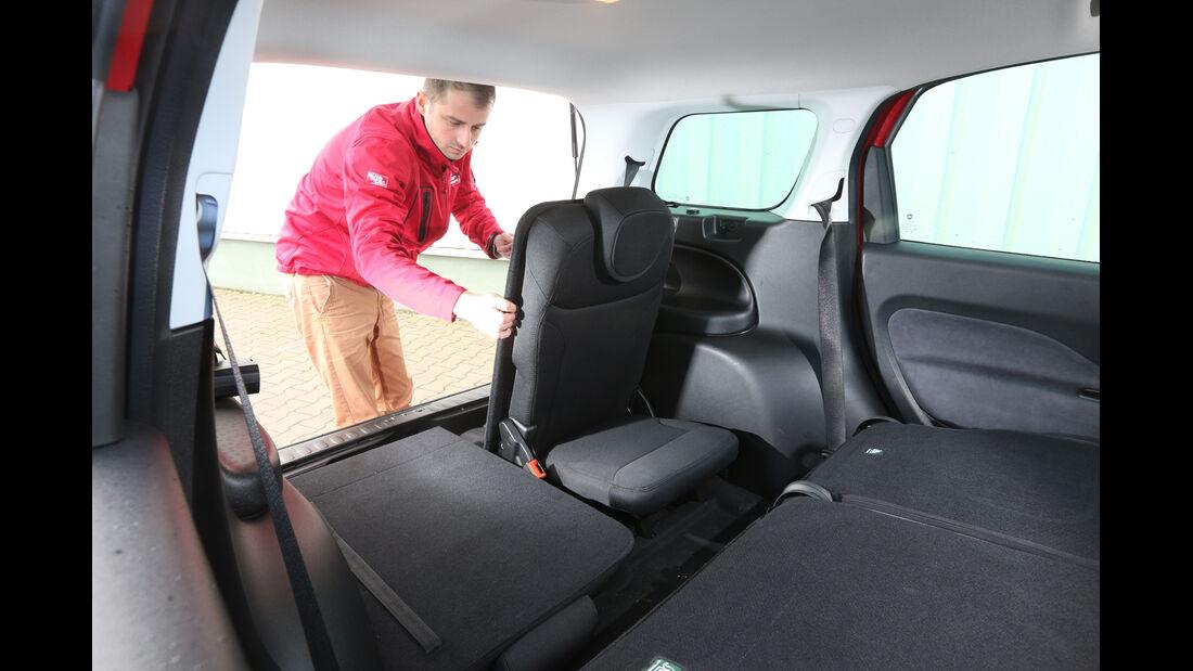 Fiat 500L Living, Fondsitze