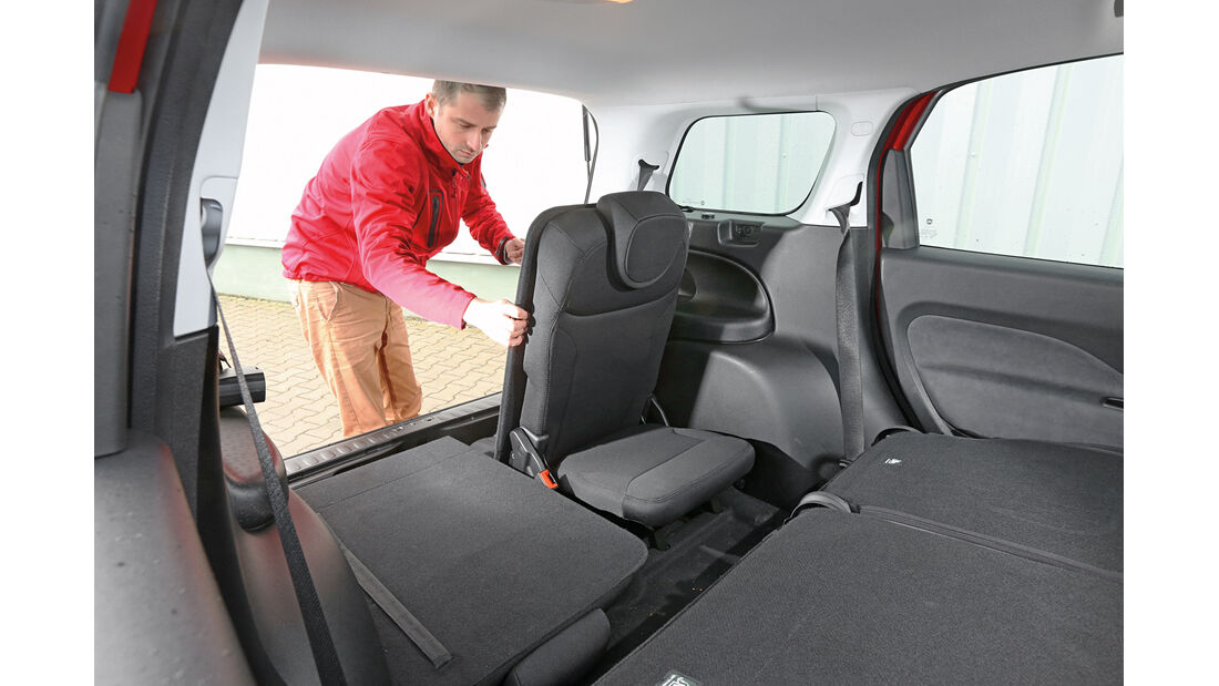 Fiat 500L Living, Fonsitze, Umklappen