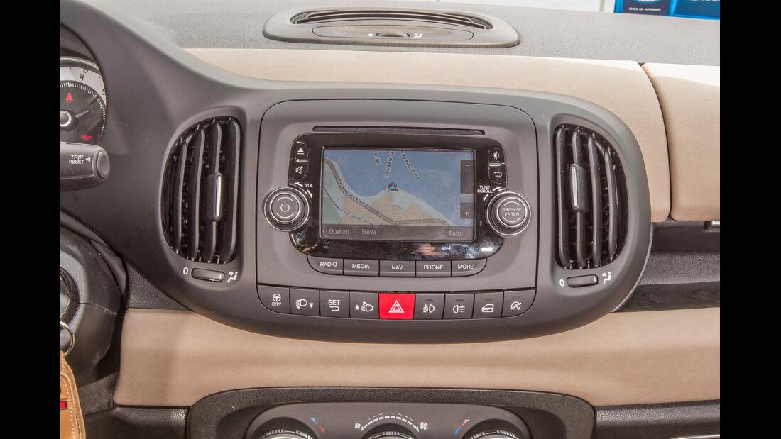Fiat 500L Living, Mittelkonsole, Schalthebel