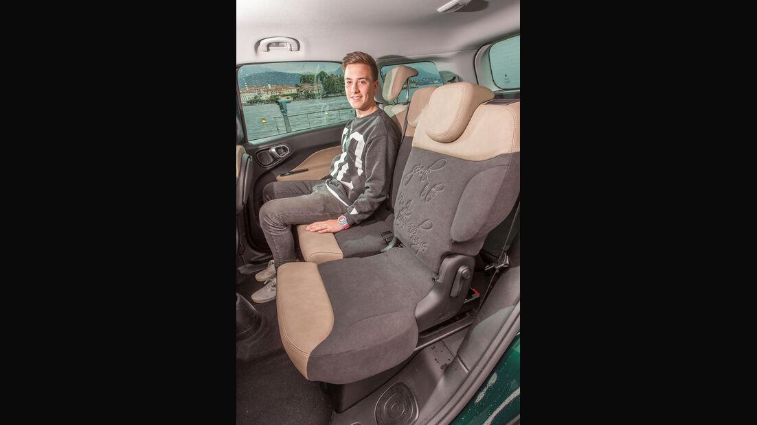 Fiat 500L Living, Rücksitz