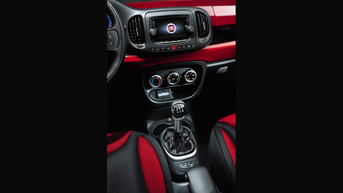Fiat 500L, Mittelkonsole, Schalthebel