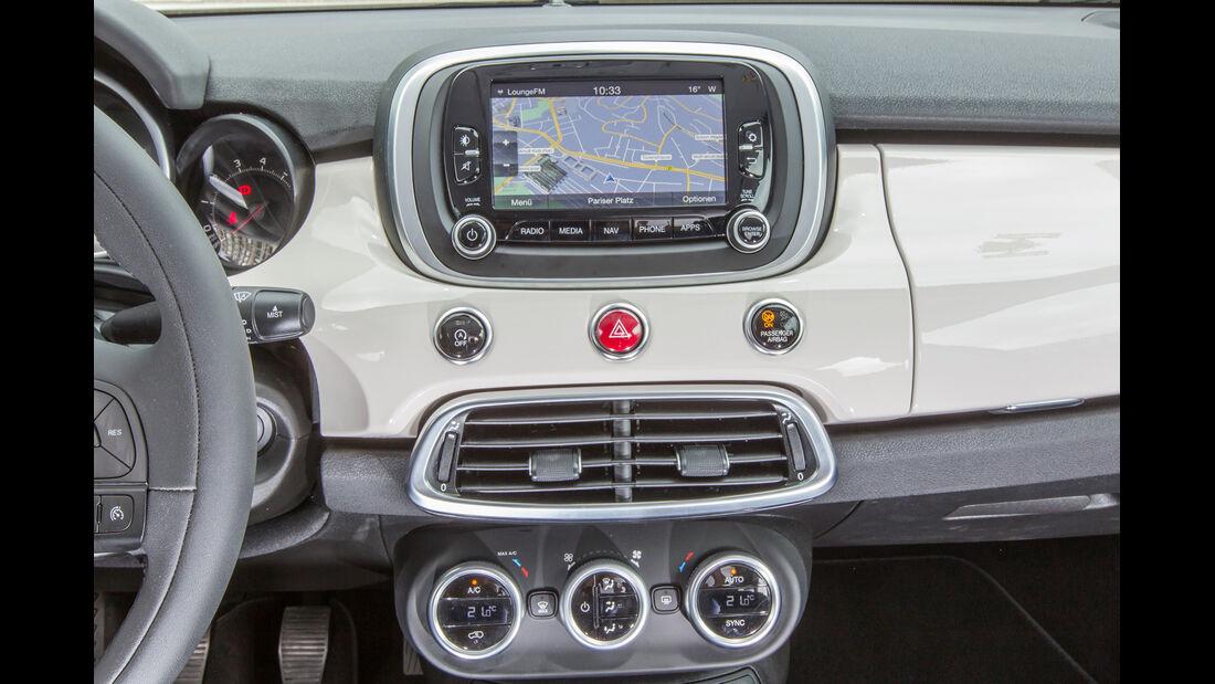Fiat 500X 1.4 MultiAir, Bildschirm, Mittelkonsole