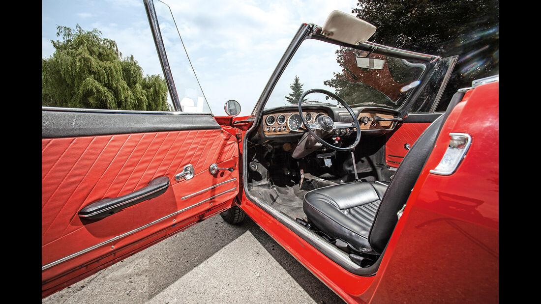 Fiat 850 Spider, Cockpit, Seitentür