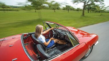 Fiat 850 Spider, Fahrt, Draufsicht