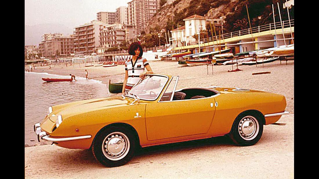 Fiat 850 Spider, Seitenansicht