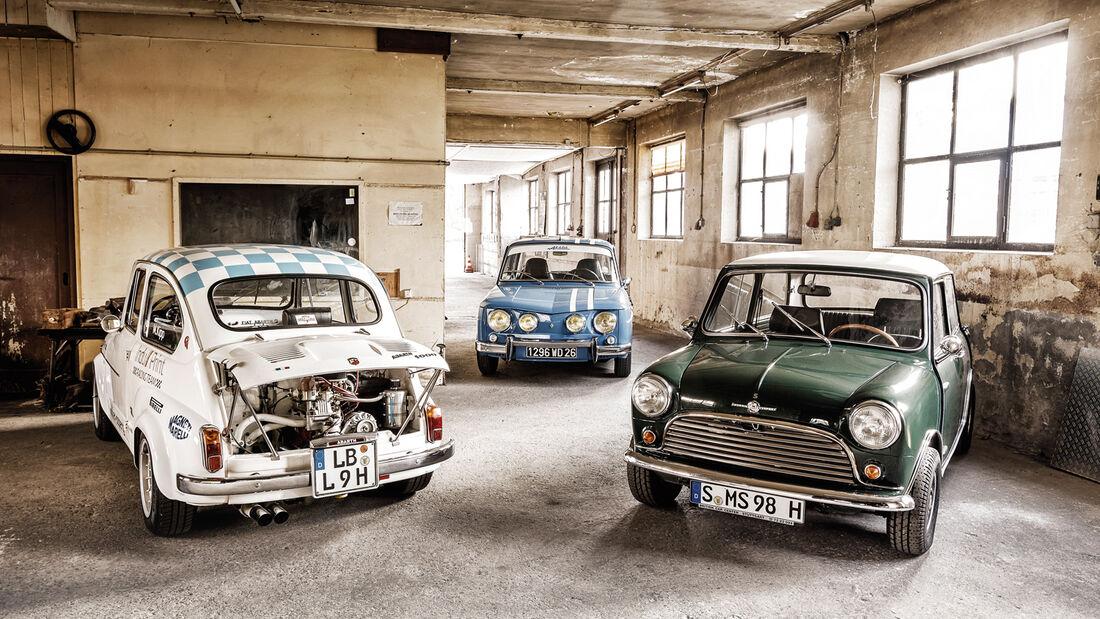 Fiat Abarth 1000 TC, Morris Mini Cooper S, Renault 8 Gordini 1300