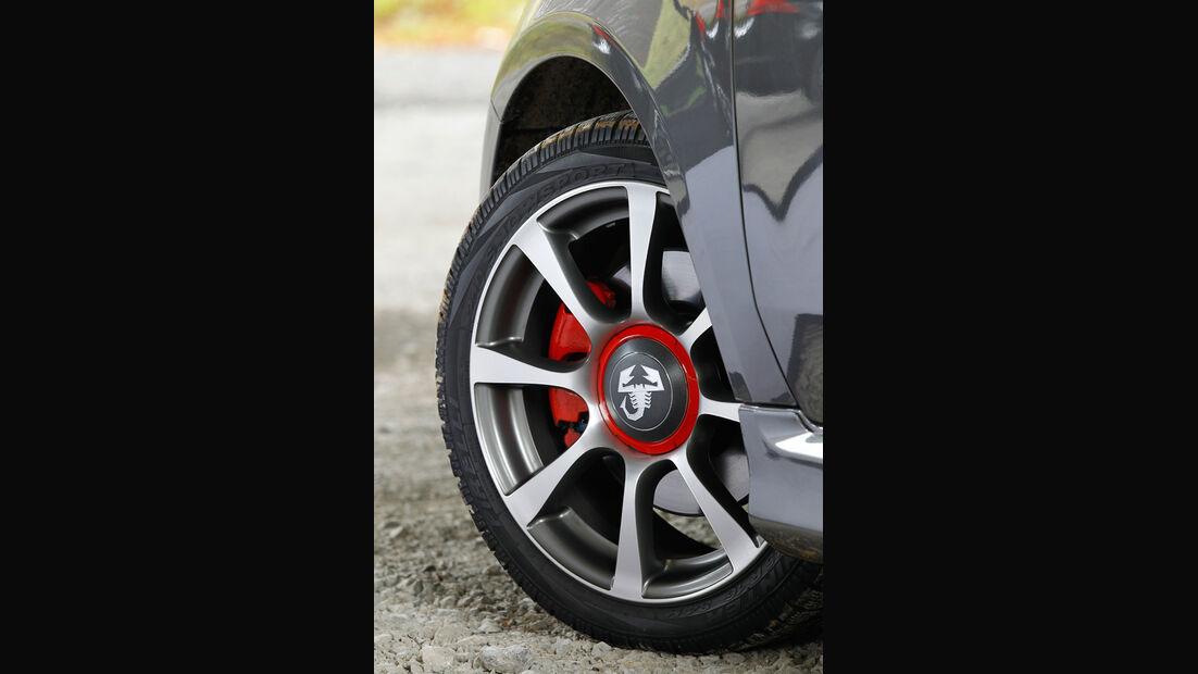 Fiat Abarth 500C, Felge, 17-Zoll-Räder, Emblem
