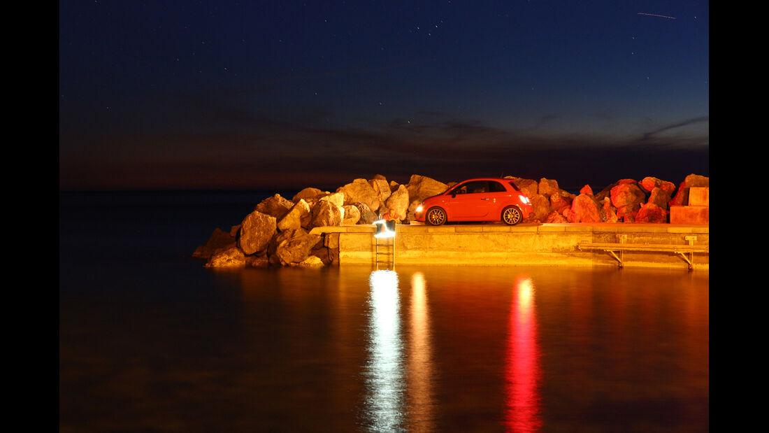 Fiat Abarth 695 Tributo Ferrari, Seitenansicht