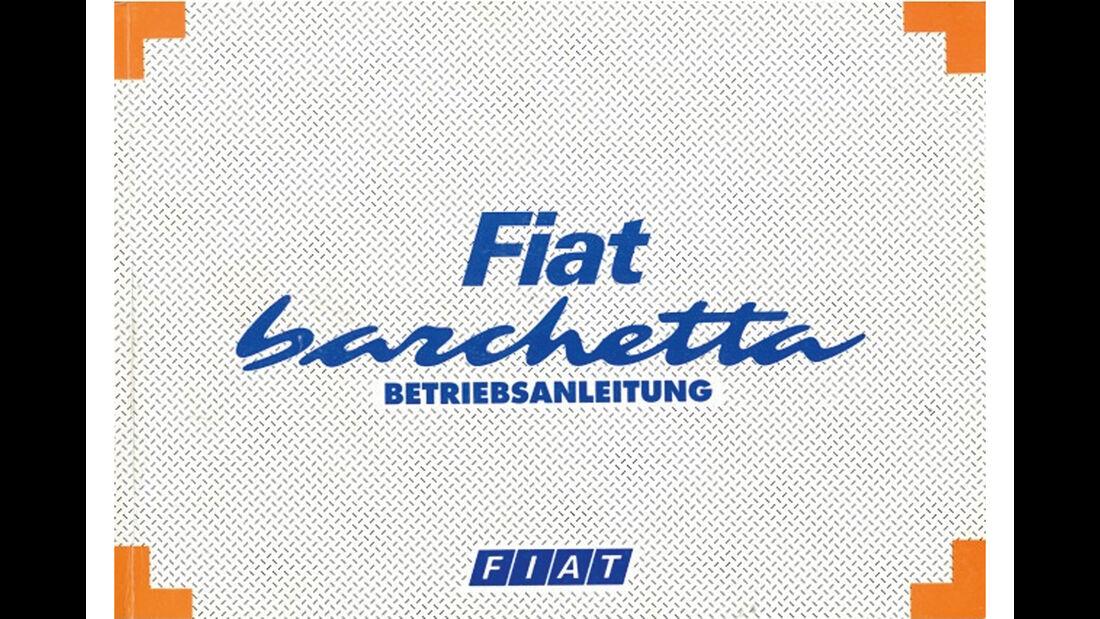 Fiat Barchetta, Betriebsanleitung
