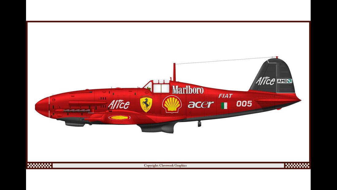 Fiat G55 - Ferrari - Racing-Planes - 2015