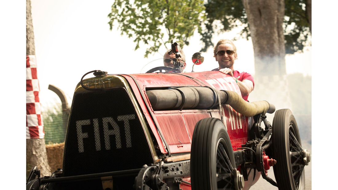 Fiat Mefistofele, Frontansicht, Fahrt